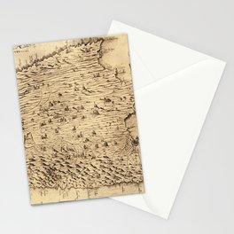 Map Of Majorca 1683 Stationery Cards