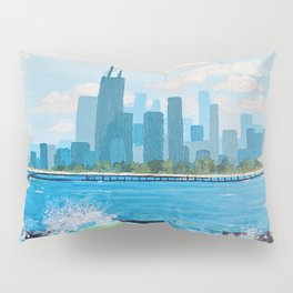 City on the Lake Pillow Sham