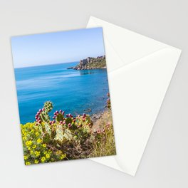 Nature vegetation above the sea nature reserve marine tranquil scene natural Stationery Cards