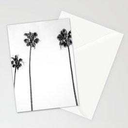 Black + White Palms Stationery Cards
