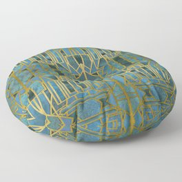 Elegant Retro Art Deco Pattern With Marble Elements Floor Pillow