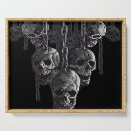 Skulls In Chains Serving Tray