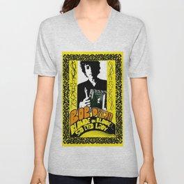 Vintage 1967 Bob Dylan Blonde on Blonde Concert Gig Poster Unisex V-Neck