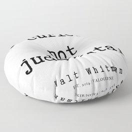 4     | Walt Whitman Quotes | 190803 Floor Pillow