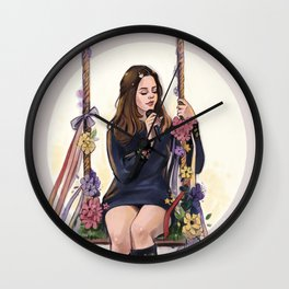 LA to the moon Wall Clock