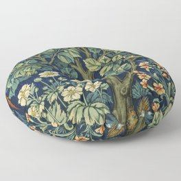 Cock Pheasant (1916) by William Morris and John Henry Dearle Floor Pillow