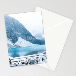 352. Quiet Moraine Lake under snow, Banff, Canada Stationery Cards