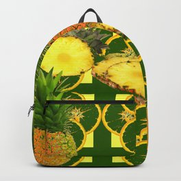 DECORATIVE GREEN-YELLOW GEOMETRIC PINEAPPLE Backpack