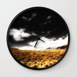 Exploring Sagebrush Field And Sky Wall Clock