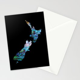 NEW ZEALAND MAP SIMPLE PAUA Stationery Cards