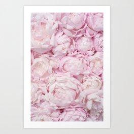 Vintage Pink Natural Rose Pattern Art Print