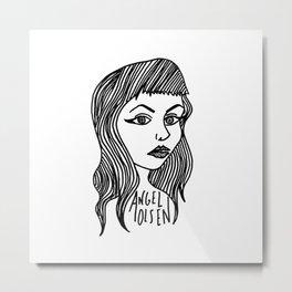Heart Shaped Face Metal Print