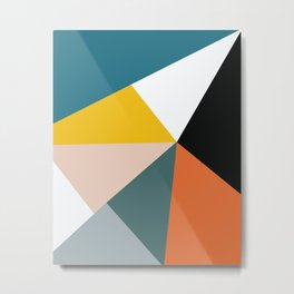 Triangles abstract colorful art Metal Print