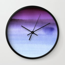 Sky Watercolor Texture Abstract 661 Wall Clock