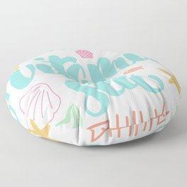 i need vitamin sea hand drawn lettering typography quotes Floor Pillow