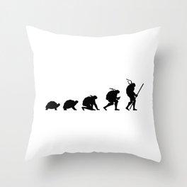 Ninja Turtle Evolution Throw Pillow
