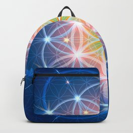 Blue Flower of Life Backpack