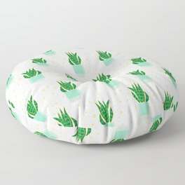 Potted Snake Plant Pattern Floor Pillow