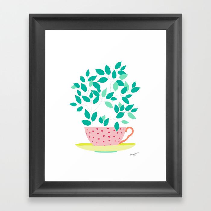 Tree Cup Framed Artwork by Pragyak FRM873396