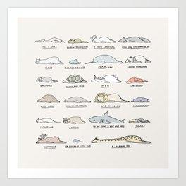Moody Animals batch 2 Art Print