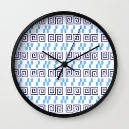 Frieze 3 blue Wall Clock