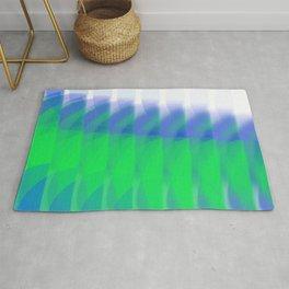 Neon green & blue flow Rug