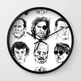 80s Action Stars Wall Clock