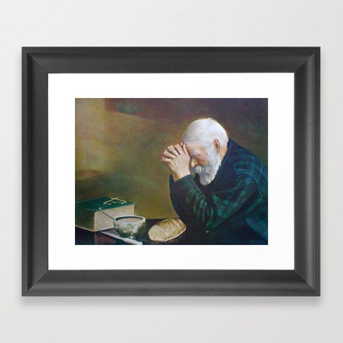 Eric Enstrom Grace Man Praying Over Bread Gerahmter Kunstdruck