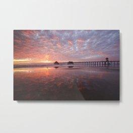Huntington Beach Pier Sunset 12-29-19 Metal Print