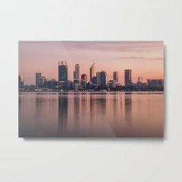 Perth City Sunrise Metal Print