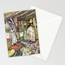 """The Badger's House"" by Arthur Rackham Stationery Cards"