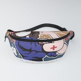 I am a Hospice Volunteer I am unbreakable vintage Gifts nurse Fanny Pack
