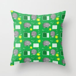 On the Farm Sheep Pattern Throw Pillow