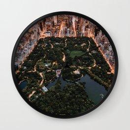 Central Park, New York - Twilight Wall Clock