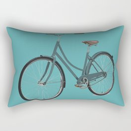 Teal Blue Retro Bicycle Mint Turquoise  Rectangular Pillow