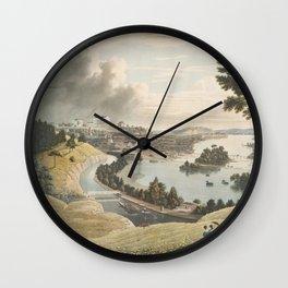 Vintage Pictorial Map of Richmond VA (1834) Wall Clock