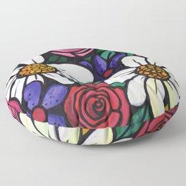 Pitcher of Flowers Floor Pillow