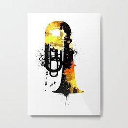 Tuba Abstract Poster Metal Print