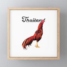 The Rooster Framed Mini Art Print