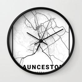 Launceston Light City Map Wall Clock