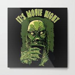 It's movie night - Black Lagoon Creature Metal Print