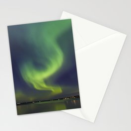 Northern Lights. Aurora borealis Stationery Cards
