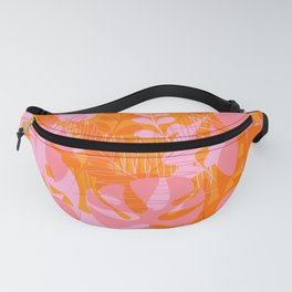 Tropical Jungle Pattern - Orange & pink Fanny Pack