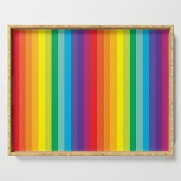Rainbow Stripes Serving Tray
