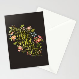As long as there was coffee...Clary Fray. The Mortal Instruments Stationery Cards