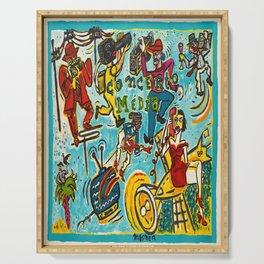 concerto media u affiche vintage Poster Serving Tray