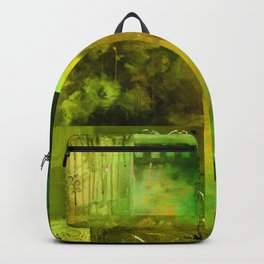 Green Collage Backpack