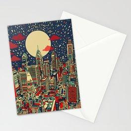 philadelphia city skyline Stationery Cards