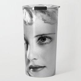 Bette Davis Eyes, Hollywood Starlet black and white photograph / black and white photography Travel Mug
