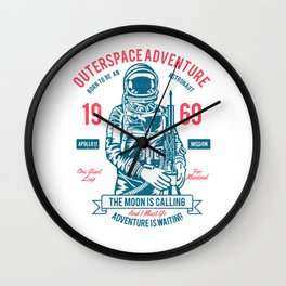 Outerspace Adventure 1969 Wall Clock